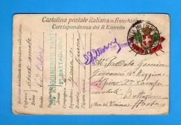 CARTOLINA POSTALE ITALIANA IN FRANCHIGIA -  1917   ZONA Di GUERRA.  Vedi Descrizione. - 1900-44 Vittorio Emanuele III