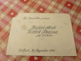 Wolfurt Festini Alois Festini Regina Geb. Stöckeler Als Vermahlte Grüssen 1946 Austria - Sin Clasificación