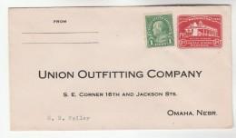 1932 USA Postal STATIONERY COVER UNION OUTFITTING Co NEBRASKA