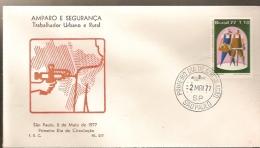 Brazil & FDC Work Safety, Urban And Rural Worker, São Paulo 1977 (1256) - Unfälle Und Verkehrssicherheit