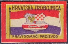 YUGOSLAVIA KINGDOM - MATCHBOX LABELS - HRVATSKA TROBOJNICA - ADAM REISNER OSIJEK - Cc 1930 - Tabac & Cigarettes