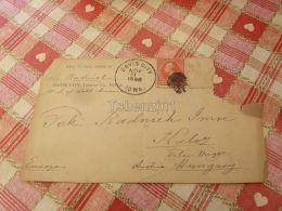Davis City USA America Kaloz Hungary Postkarte Postcard - 1847-99 Unionsausgaben