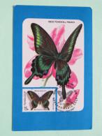 Russia - Pocket Calendar 1989 - Butterfly Maxicard Ilustration - Calendars