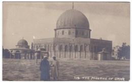 Jerusalem Israel, Dome Of The Rock, Mosque Of Omar Umar, 1910s Vintage Real Photo Postcard - Israel