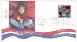Sc#3190l Video Games 1980s Celebrate The Century FDC First Day Of Issue 2000 Cover - 1991-2000