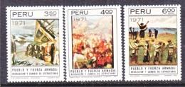 PERU  566-8   **   ARMED  FORCES   PAINTINGS - Peru