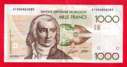 Belgique - Billet Circulé De 1000 Francs Belges ... ( Ref -- 3965 ) - Belgium