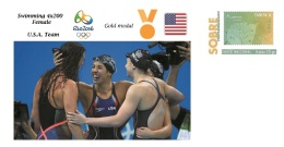 Spain 2016 - Olympic Games Rio 2016 - Gold Medal Swimming 4x200 Female U.S.A. Cover - Juegos Olímpicos