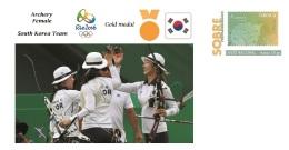 Spain 2016 - Olympic Games Rio 2016 - Gold Medal Archery Female South Korea Cover - Juegos Olímpicos