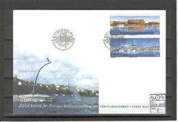 Sweden 3133 FDC 1998 Set 2v CV 4.00 Eur Transport Ships - Unclassified