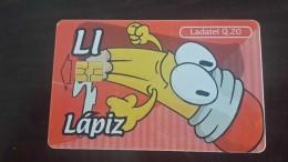Guatemala-(gua-telgua-208)-Li-LAPIZ-alphabet-(20q)-used Card+1card Prepiad Free - Guatemala