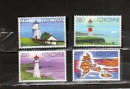 FAEROER FAROE ISLANDS Féroé Faroer Føroyar 1985 LIGHTHOUSES FARI COMPLETE SET SERIE COMPLETA MNH - Färöer Inseln