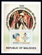 Maldives - 1980 - Queen Mother 80th Birthday Miniature Sheet - MNH - Maldives (1965-...)
