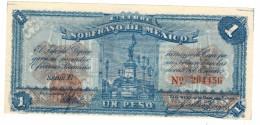 Mexico, 1 Peso, 1915. UNC.  Rare. Free Ship. To USA. - Mexico