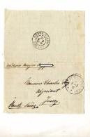 Lettre Franchise Cachet Tresor Et Poste  + Jussey - Postmark Collection (Covers)