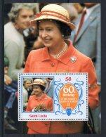 St Lucia - 1986 - QEII 60th Birthday Miniature Sheet - MNH - St.Lucia (1979-...)