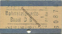 Bahnsteigkarte - Basel DB 20Rp. - Sonstige