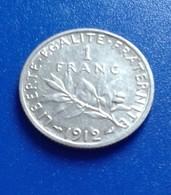 1  FRANC  1912   SEMEUSE   ARGENT                N°352DE - France