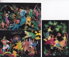 16 / 8 / 21  -lot  De  11  CP  De  Fresques  Russes  -    MOSCOU   -Toutes Scanées - 5 - 99 Karten