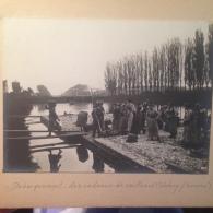 80-SAINT-VALERY-SUR-SOMME-   PHOTO-  DEBARQUEMENT DES RADEAUX DE CAILLOUX 1903  ( RARE ) - Saint Valery Sur Somme