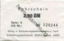 Zossen - Fahrschein 2,00DM - Verkehrsgesellschaft KWH/Zossen MbH - Sonstige
