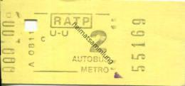 Paris - RATP - Autobus - Metro - Fahrschein - Transporttickets