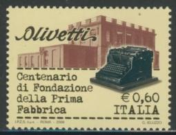 Italy Italie Italia 2008 Mi 3220 ** Olivetti Typewriter (1908), Factory Building, Ivrea / Schreibmaschinen - Fabrieken En Industrieën