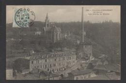 DF / 07 ARDÈCHE / VIDALON / LES USINES ET L'EGLISE / CIRCULÉE EN 1905 - Other Municipalities