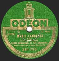 78 T.- 25 Cm - état B - RAMON MENDIZABAL - MARIE LAURENCE - MON AMOUR EST UN ANGE - 78 Rpm - Schellackplatten