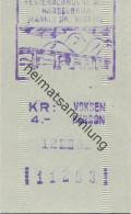 Norwegen - Hadselbrua - Hadselbrücke - Mautschein 1982 - Transporttickets