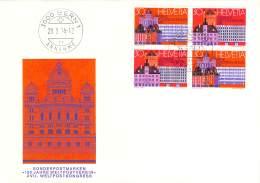 C    1974   Michel #   1027 - 28   4-er Block - FDC