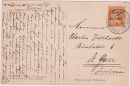 1 Piastre 20 Paras (30c Semeuse Jaune ) Sur CP  Constantinople 1922 - Storia Postale