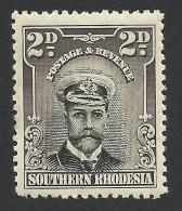 Southern Rhodesia, 2 P. 1924, Sc # 4, MH - Rhodésie Du Sud (...-1964)
