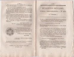 Bulletin Des Lois N° 260 - 1833 - Postes Convention Transport Des Dépêches France Angleterre Et Outre Mer ( 11 Pages ) - Décrets & Lois