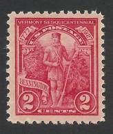United States, 2 C. 1927, Sc # 643, Mi # 307, MH - Unused Stamps