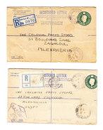 GB FIELD POST OFFICE 1945/46 Lot Von 2 R-Ganzsachen Nach Alexandria Egypten Davon 1 Mit RAF Zensur Stempel - 1902-1951 (Rois)