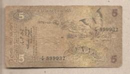Ceylon - Banconota Circolata Da 5 Rupie - 1979 - Sri Lanka