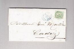 GB London #87 Faltbrief 11.5.1861 Mit 1 Sh Viktoria Nach Cadiz Spanien - 1840-1901 (Victoria)