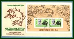 N. Hébrides FDC Rowland Hill 1979 Bloc Feuillet Miniature Sheet - FDC