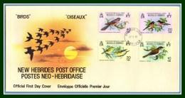 N. Hébrides FDC Oiseaux 1980 Birds - FDC