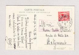 GB Britisch-Levant Army-Post-Office 27.9.1919 Constantinople Zensurierte Ansichtskarte Nach Delémont - Levant Britannique