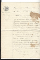 LOCOMOBILE A VAPEUR , St-Jean D´Angély  , Règlement D´usage Pour Une Machine à Battre Le Blé Pour Legendre , 1863  7 P. - Manuscrits