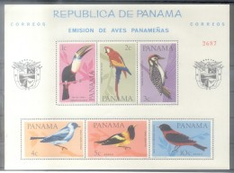 PANAMA - BIRDS PAJAROS OISEAUX VOGEL - NUMERATED BLOC MICHEL NR. 42 A MNH TBE - Panama