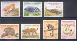 PARAGUAY ANIMALES SERIE CENTENARIO DE LA EPOPEYA NACIONAL 1864-1870 7 VALORES MNH - Paraguay