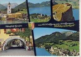 ST. WOLFGANG - Salzkammergut, Mehrbildkarte, Luftbild, Hotel Weisses Rössl, Schafberg Spitze - St. Wolfgang