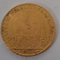 20 FRANCS OR COQ 1908 - Gold