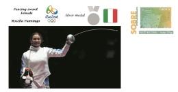 Spain 2016 - Olympic Games Rio 2016 - Silver Medal Fencing Sword Italy Cover - Juegos Olímpicos