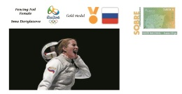Spain 2016 - Olympic Games Rio 2016 - Gold Medal Fencing Female Russia Cover - Juegos Olímpicos