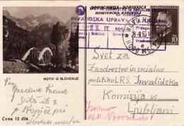 JUGOSLAVIJA YUGOSLAVIA DOPISNICA CARTE POSTALE ILLUSTRATED CARD 1955  MOTIV IZ SLOVENIJE SLOVENIJA NOVO MESTO LJUBLJANA - Postal Stationery