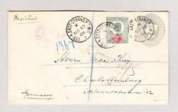 GB GS Ausschnitt 2d1/2 Viktoria Mit 2d Edward VII Auf R-Brief 173-4 East-Strand 10.11.1906 Nach Charlottenburg - Lettres & Documents